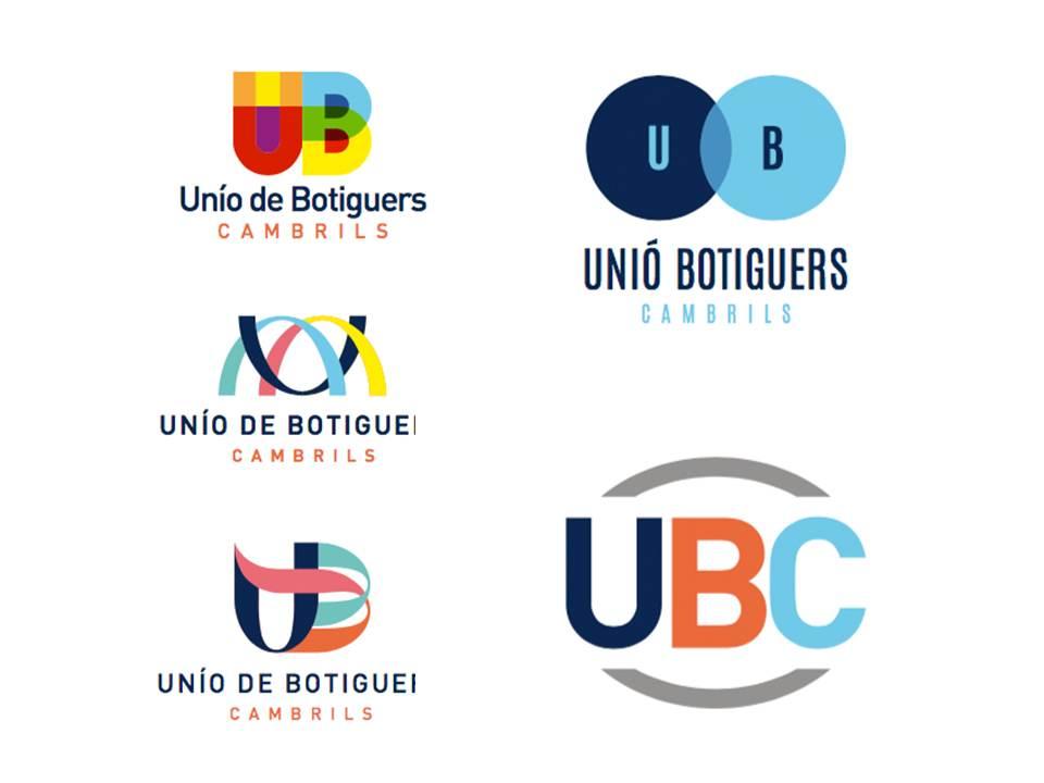 Propostes de disseny de logotip per la Unió de Botiguers de Cambrils