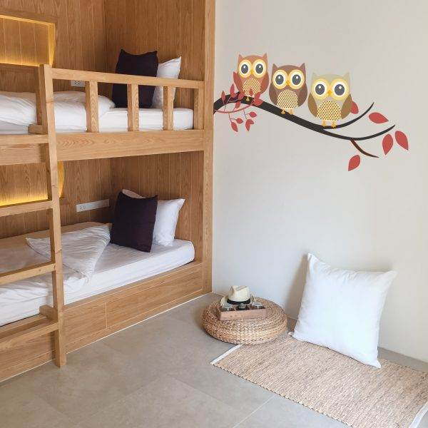 Vinil de mussols per habitació infantil
