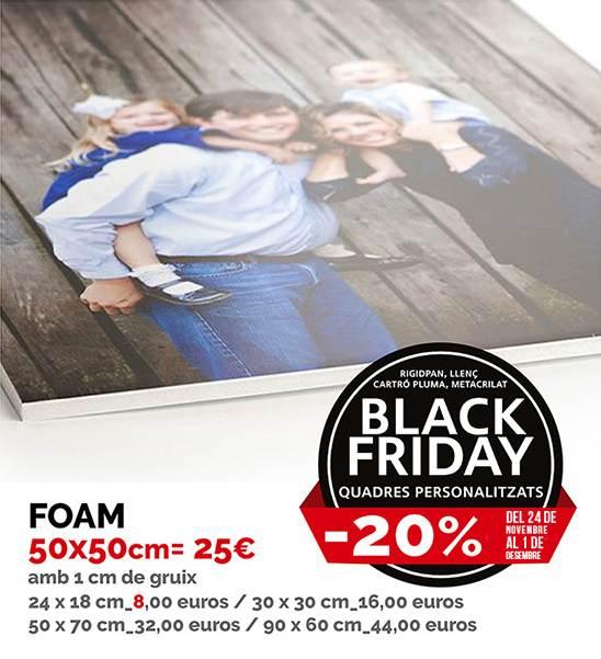 Cartró ploma personalitzat Black Friday