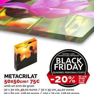 Metracrilat personalitzat Black Friday