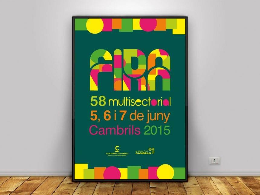 Disseny gràfic de cartell per la Fira Multisectorial de Cambrils 2015