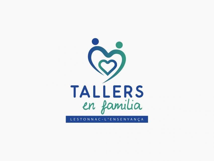 Disseny de logotip Tallers en familia l'Estonnac l'Ensenyança